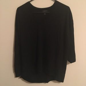 J. Crew Black V-Neck Sweater